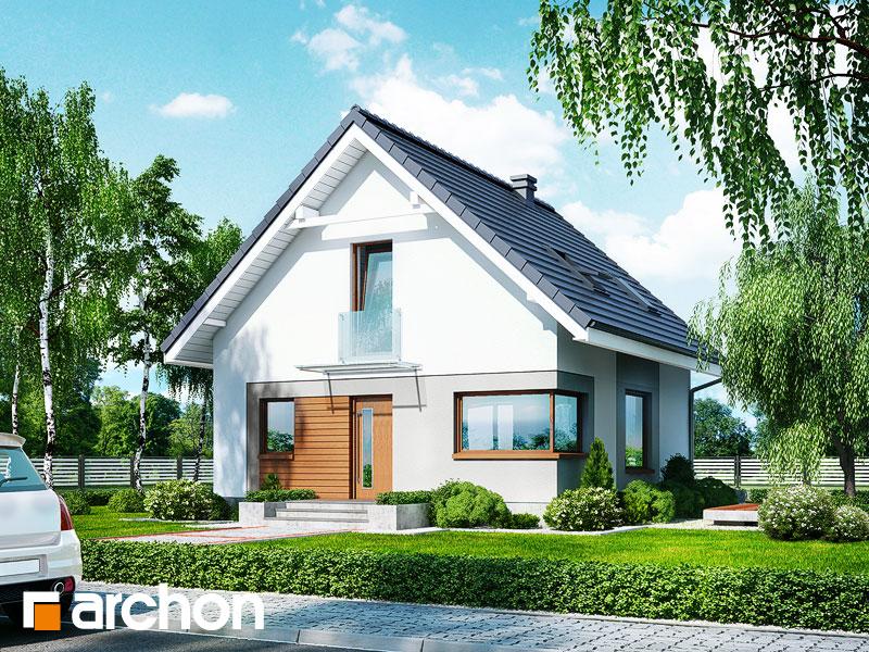 Проект дома ARCHON+ Дом в рододендронах 11 (H) Вид 1