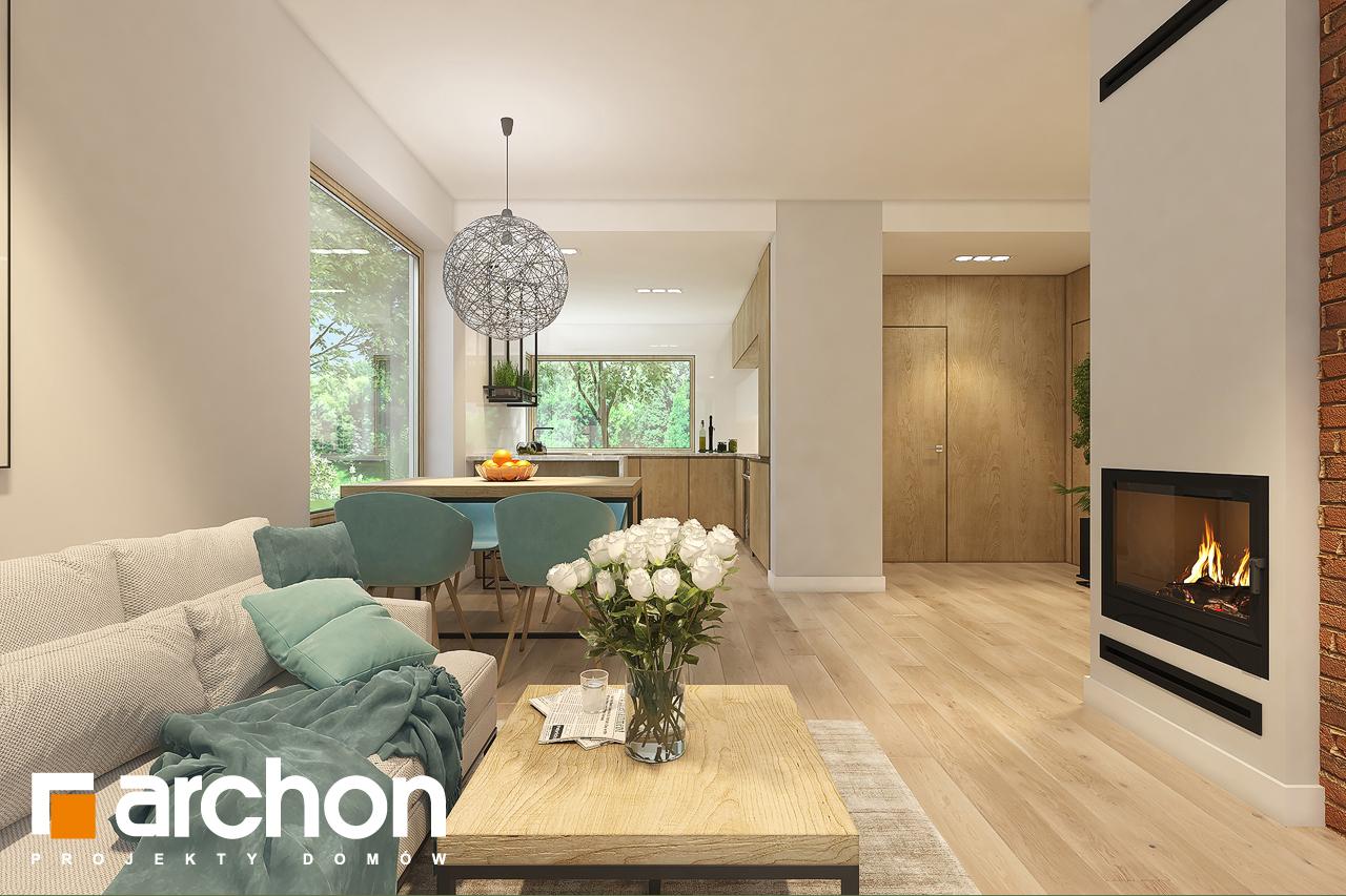 Проект дома ARCHON+ Дом в рододендронах 11 (H) дневная зона (визуализация 1 вид 3)