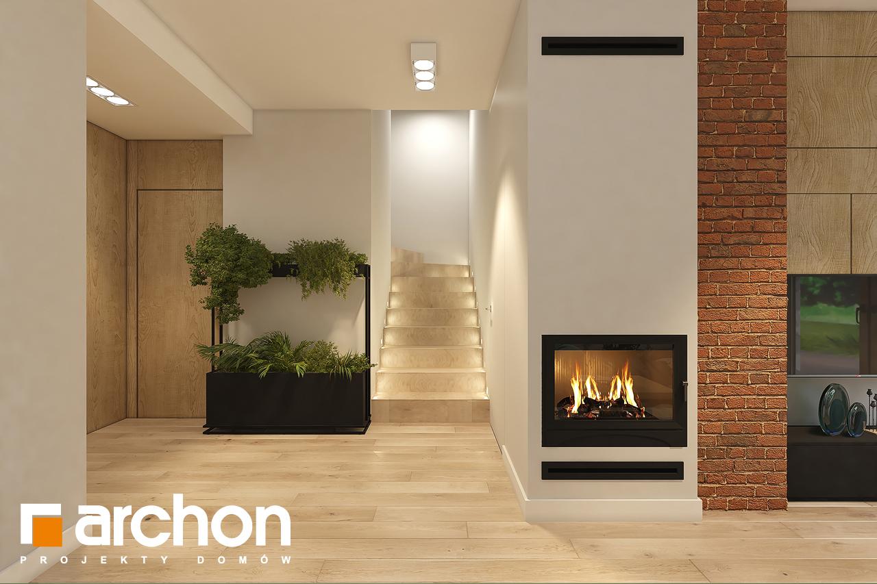 Проект дома ARCHON+ Дом в рододендронах 11 (H) дневная зона (визуализация 1 вид 5)