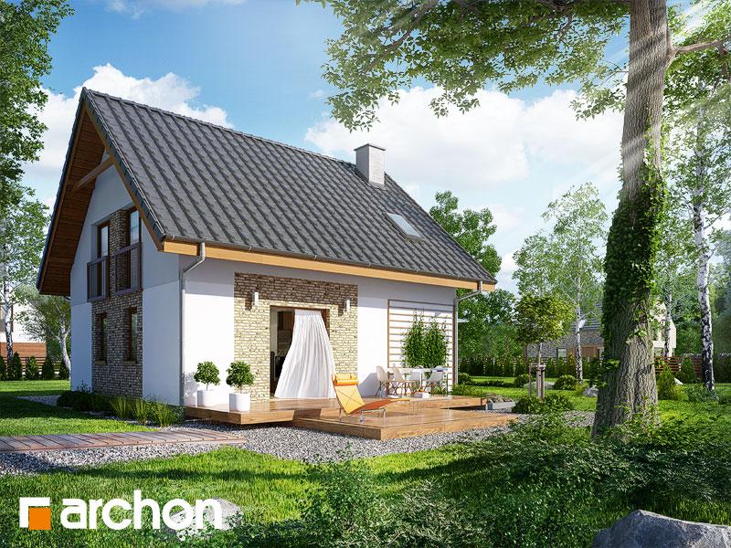 Проект будинку ARCHON+ Будинок в хлорофітумі 2 додаткова візуалізація