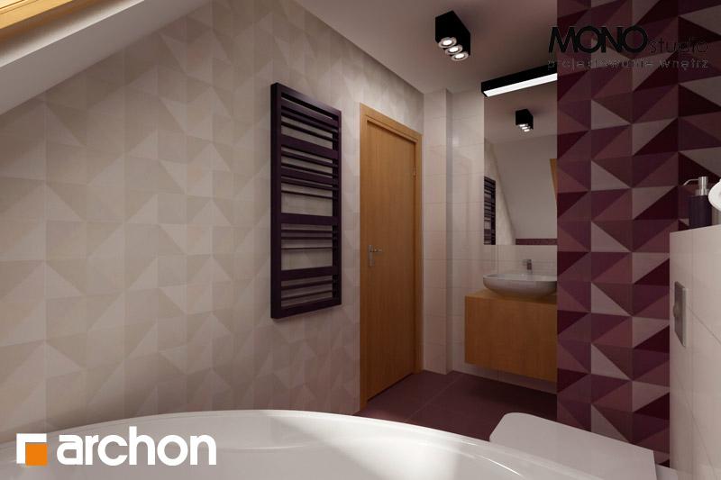 Проект будинку ARCHON+ Будинок в хлорофітумі 2 візуалізація ванни (візуалізація 1 від 1)