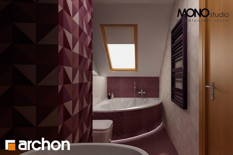 Проект будинку ARCHON+ Будинок в хлорофітумі 2 візуалізація ванни (візуалізація 1 від 2)