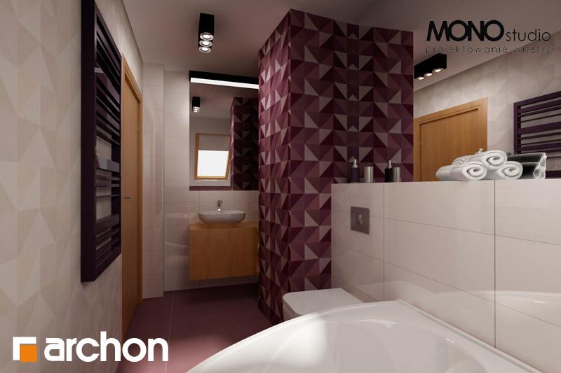 Проект будинку ARCHON+ Будинок в хлорофітумі 2 візуалізація ванни (візуалізація 1 від 3)