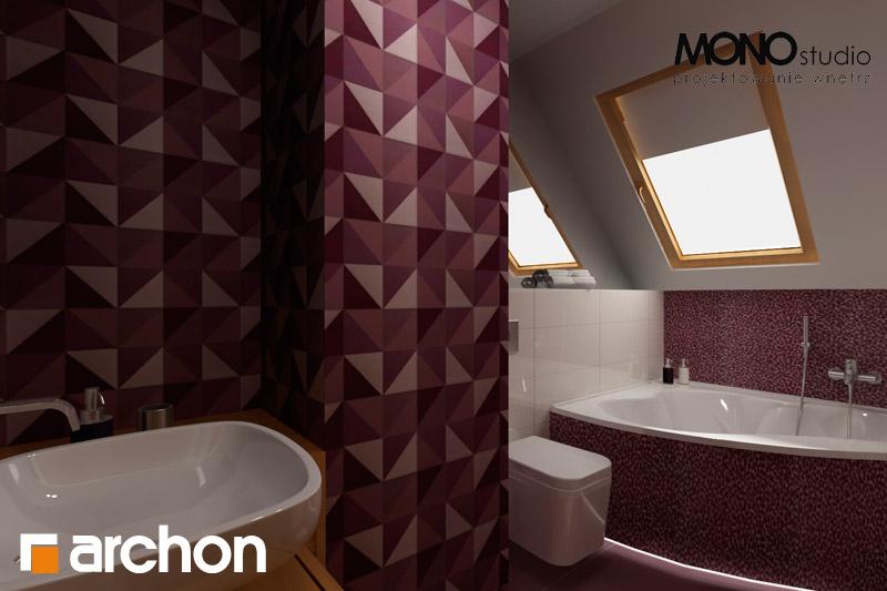 Проект будинку ARCHON+ Будинок в хлорофітумі 2 візуалізація ванни (візуалізація 1 від 4)