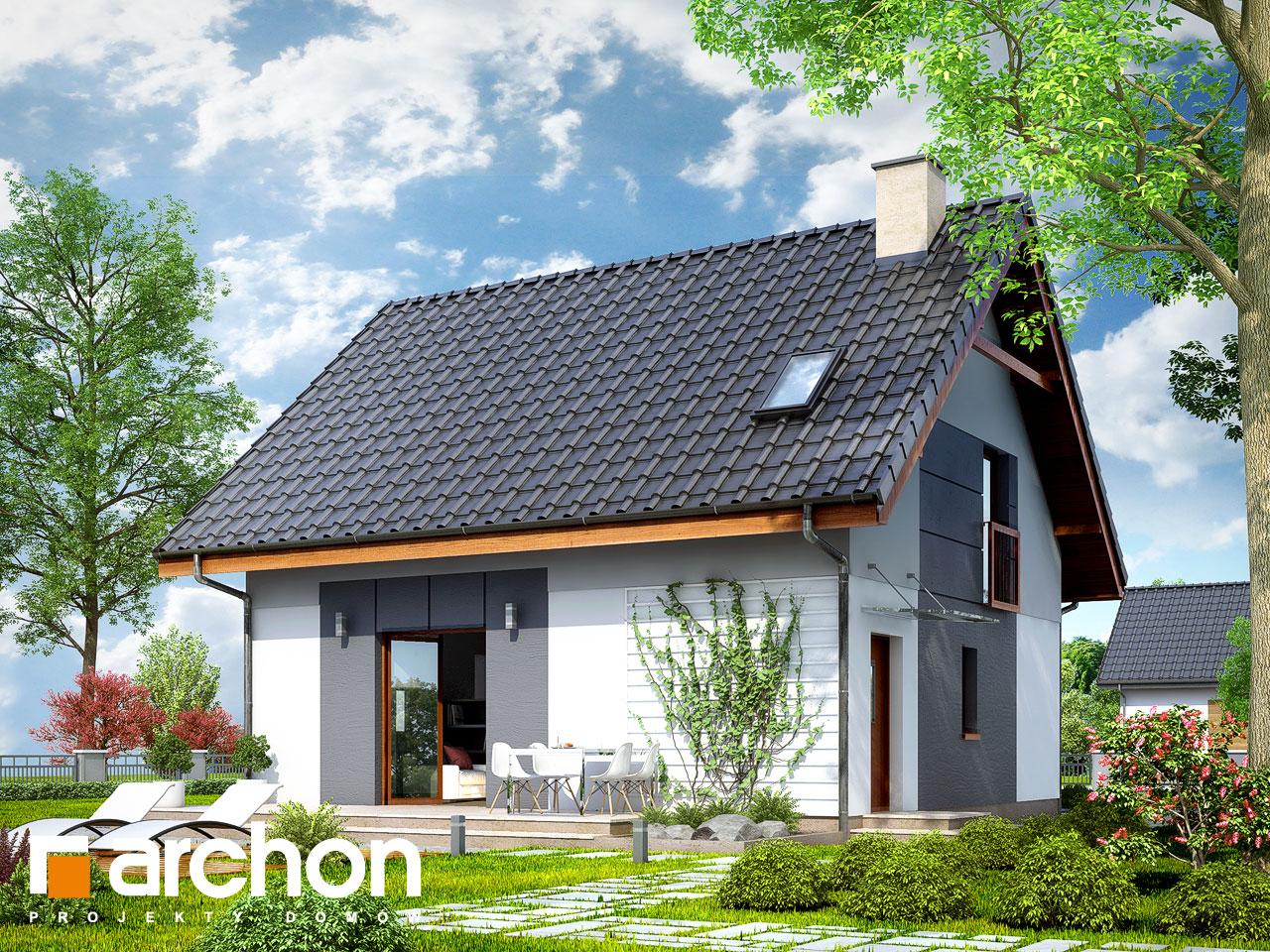 Проект будинку ARCHON+ Будинок в хлорофітумі 2 Вид 2