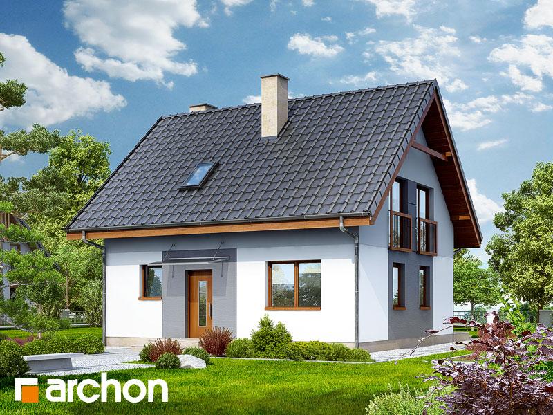 Проект будинку ARCHON+ Будинок в хлорофітумі 2 Вид 1