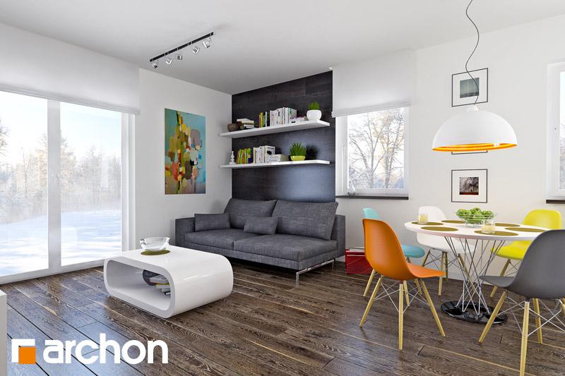 Проект будинку ARCHON+ Будинок в хлорофітумі 2 денна зона (візуалізація 1 від 1)