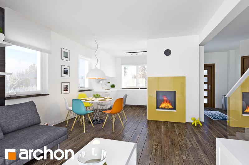 Проект будинку ARCHON+ Будинок в хлорофітумі 2 денна зона (візуалізація 1 від 2)