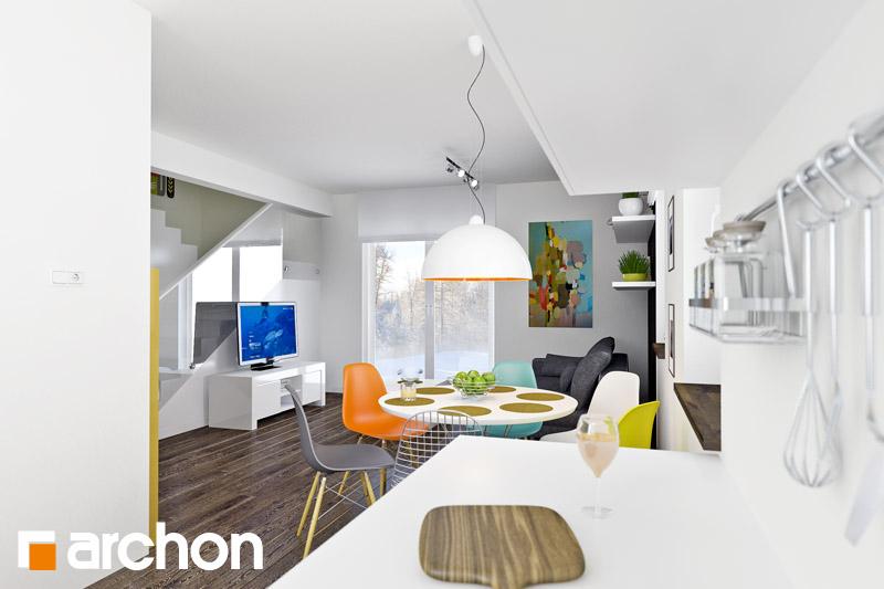 Проект будинку ARCHON+ Будинок в хлорофітумі 2 денна зона (візуалізація 1 від 3)