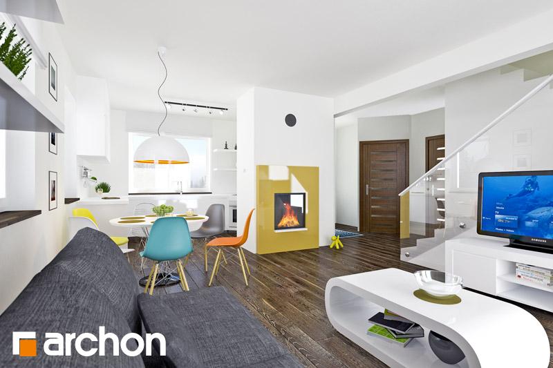 Проект будинку ARCHON+ Будинок в хлорофітумі 2 денна зона (візуалізація 1 від 4)