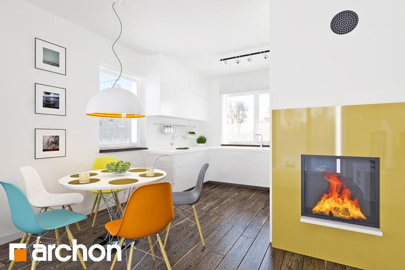 Проект будинку ARCHON+ Будинок в хлорофітумі 2 денна зона (візуалізація 1 від 5)