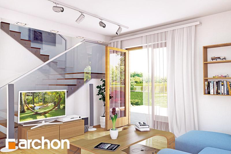 Проект будинку ARCHON+ Будинок в хлорофітумі 2 денна зона (візуалізація 2 від 1)