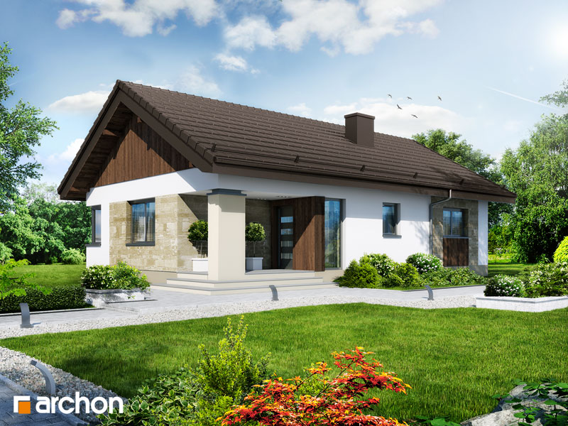 Проект будинку ARCHON+ Будинок в плодолистках стилізація 3