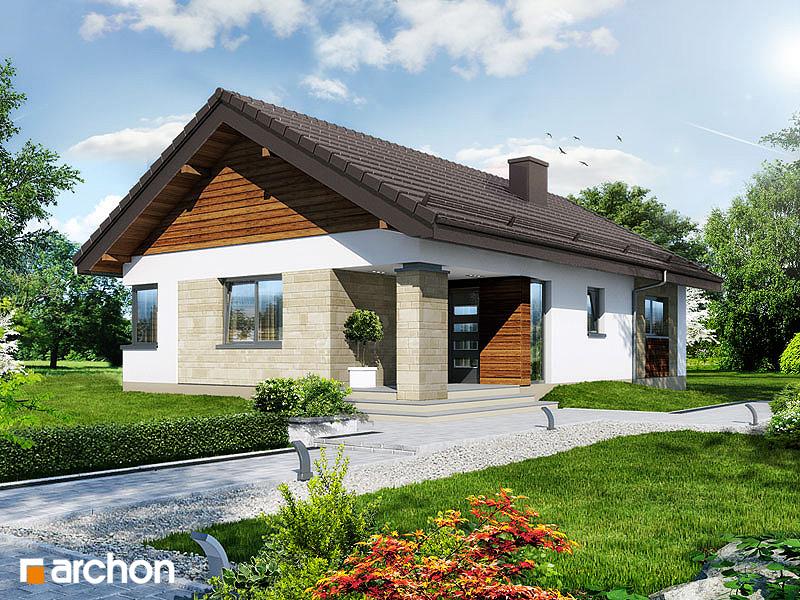 Проект будинку ARCHON+ Будинок в плодолистках стилізація 5