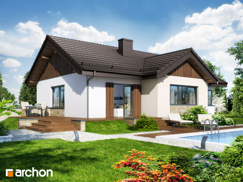Проект дома ARCHON+ Дом в плодолистике стилизация 4