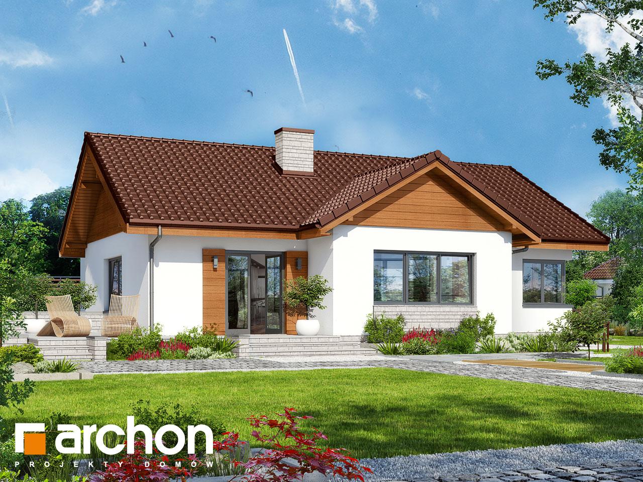 Проект будинку ARCHON+ Будинок в плодолистках Вид 2