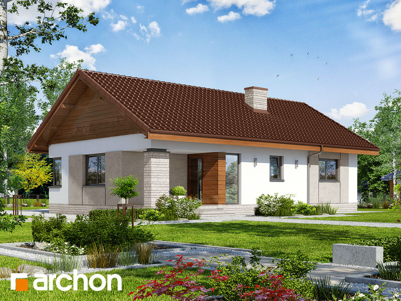 Проект дома ARCHON+ Дом в плодолистике Вид 1