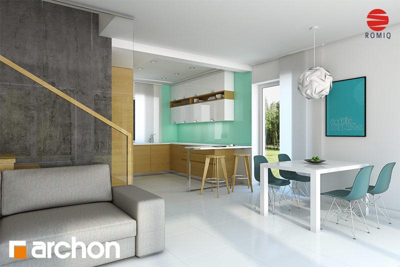 Проект будинку ARCHON+ Будинок в красивоягідниках аранжування кухні 1 від 1