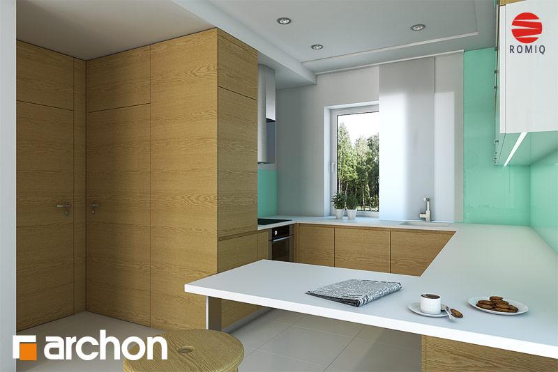 Проект будинку ARCHON+ Будинок в красивоягідниках аранжування кухні 1 від 2