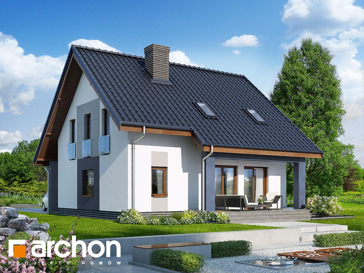Проект будинку ARCHON+ Будинок в красивоягідниках Вид 2