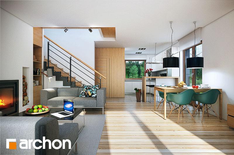 Проект будинку ARCHON+ Будинок в красивоягідниках денна зона (візуалізація 1 від 1)
