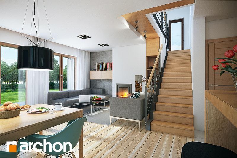 Проект будинку ARCHON+ Будинок в красивоягідниках денна зона (візуалізація 1 від 3)