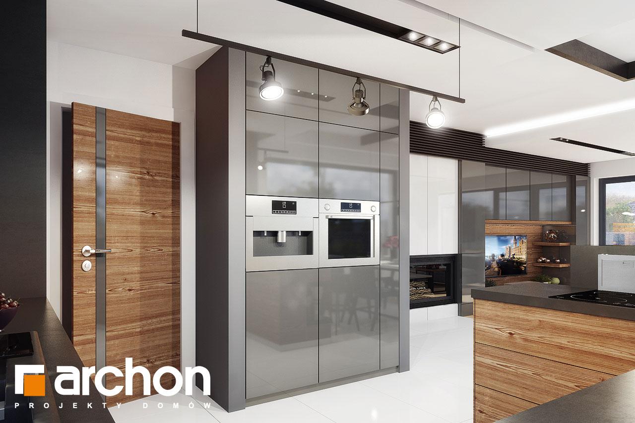 Проект будинку ARCHON+ Будинок під червоною горобиною 8 (H) візуалізація кухні 1 від 2