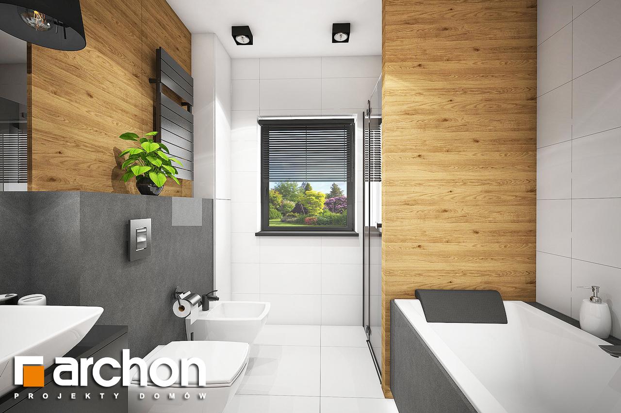Проект будинку ARCHON+ Будинок під червоною горобиною 8 (H) візуалізація ванни (візуалізація 3 від 1)