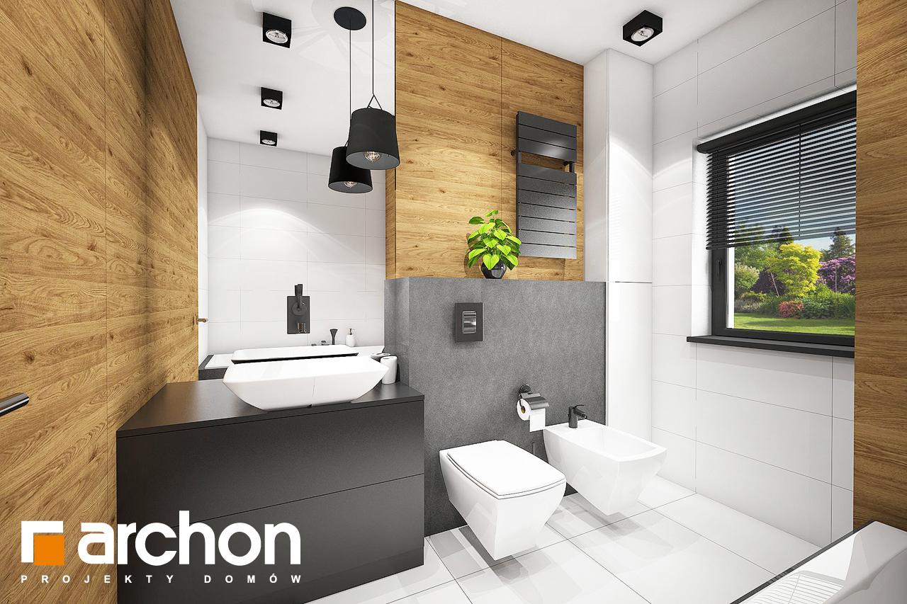 Проект будинку ARCHON+ Будинок під червоною горобиною 8 (H) візуалізація ванни (візуалізація 3 від 3)