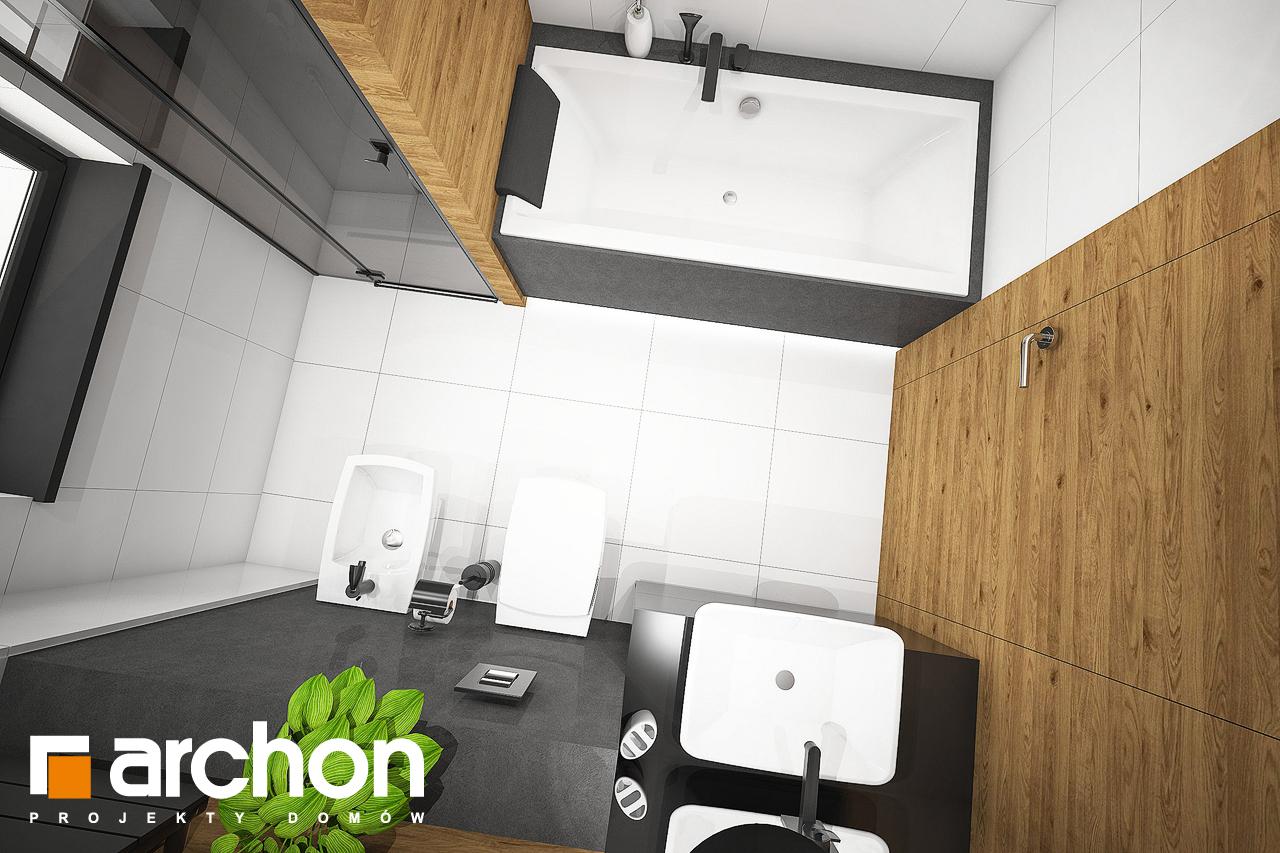 Проект будинку ARCHON+ Будинок під червоною горобиною 8 (H) візуалізація ванни (візуалізація 3 від 4)