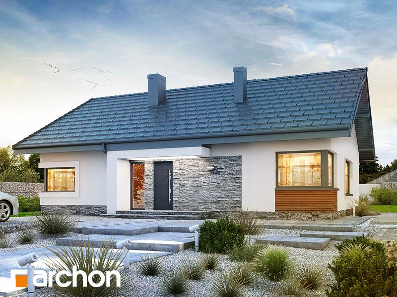 Проект будинку ARCHON+ Будинок під червоною горобиною 8 (H) Вид 1