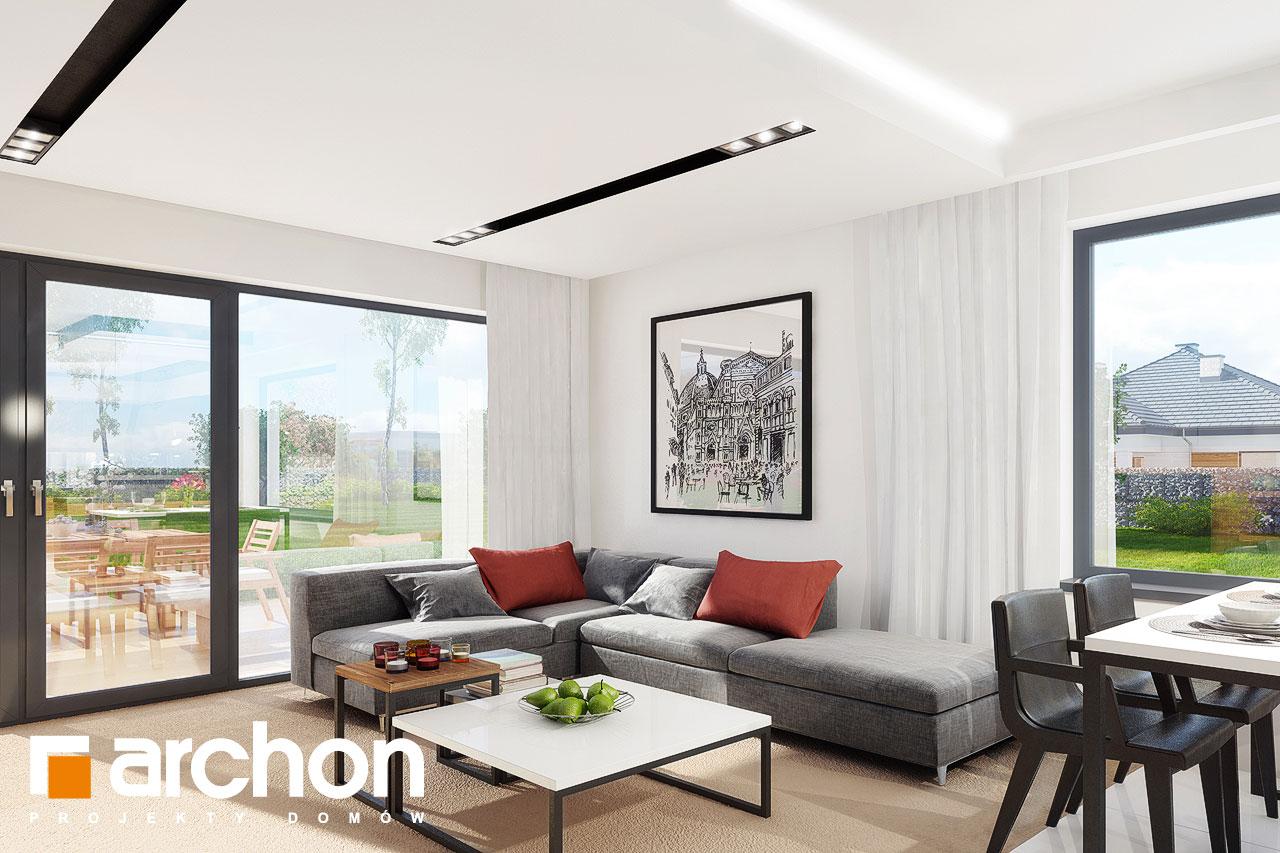 Проект будинку ARCHON+ Будинок під червоною горобиною 8 (H) денна зона (візуалізація 1 від 3)
