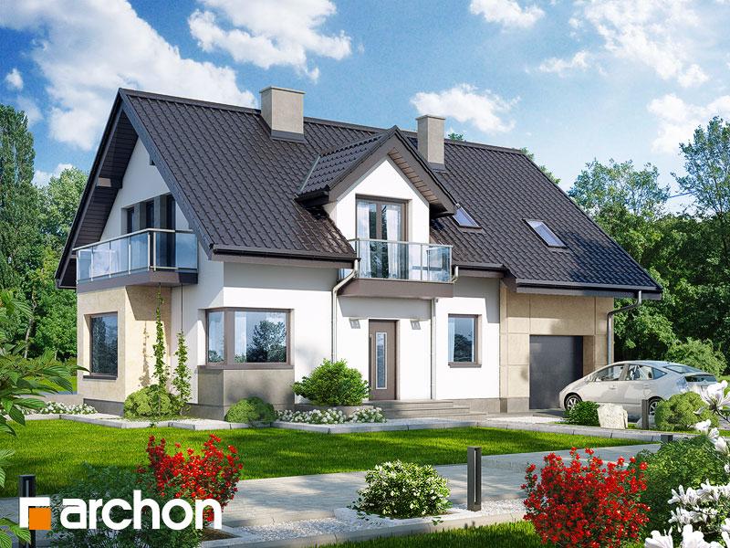 Проект будинку ARCHON+ Будинок в рододендронах 8 (H) стилізація 3
