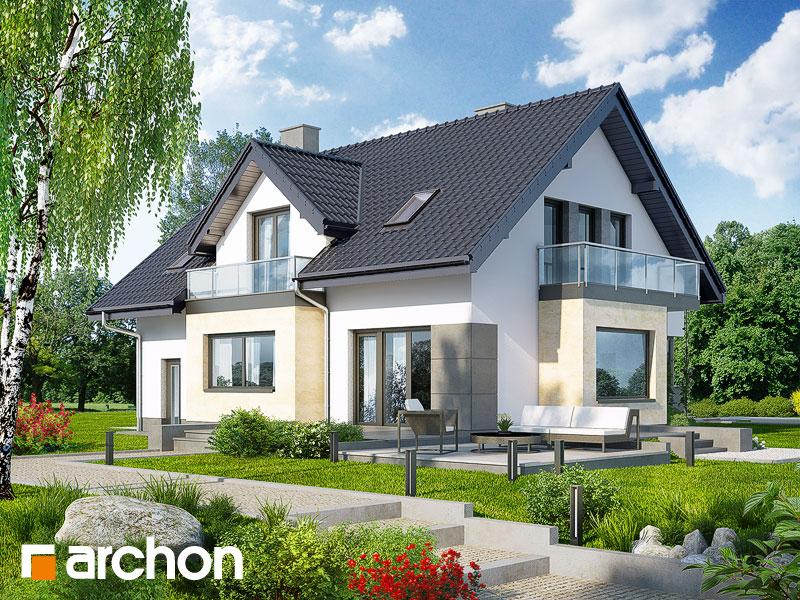 Проект будинку ARCHON+ Будинок в рододендронах 8 (H) стилізація 4