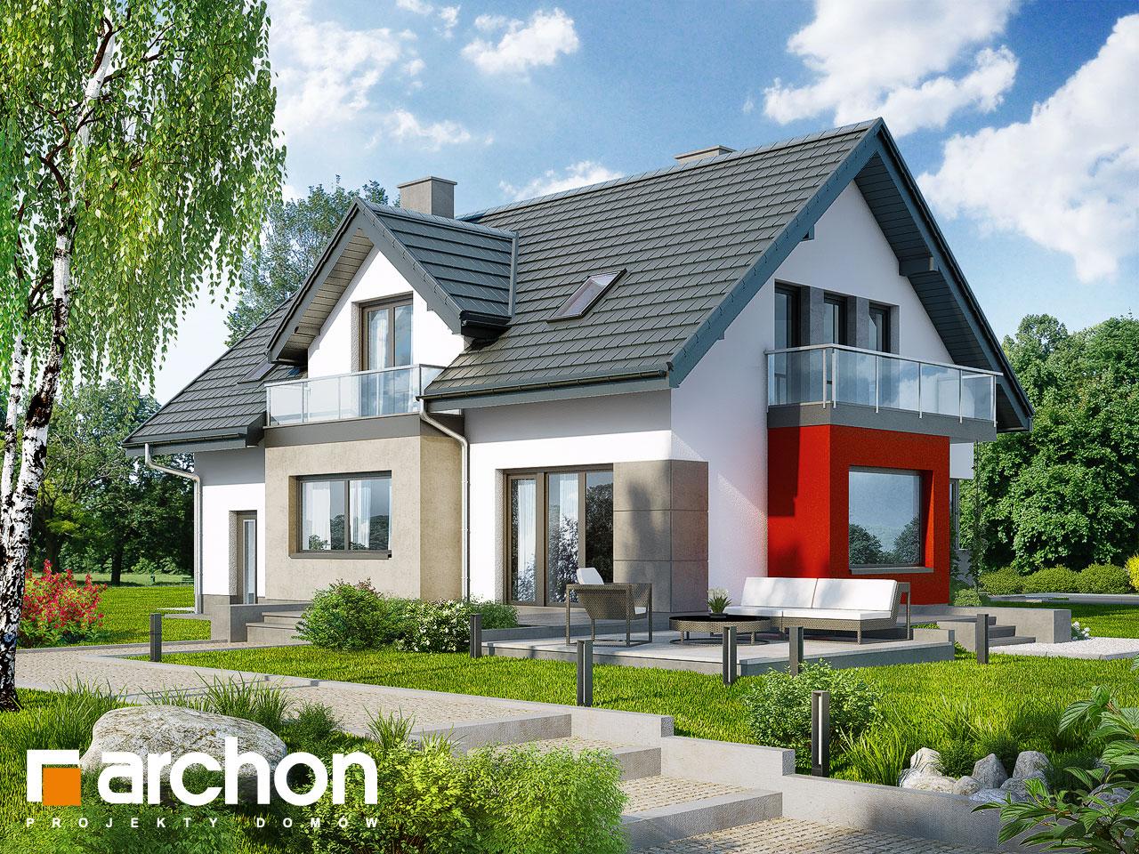 Проект будинку ARCHON+ Будинок в рододендронах 8 (H) Вид 2