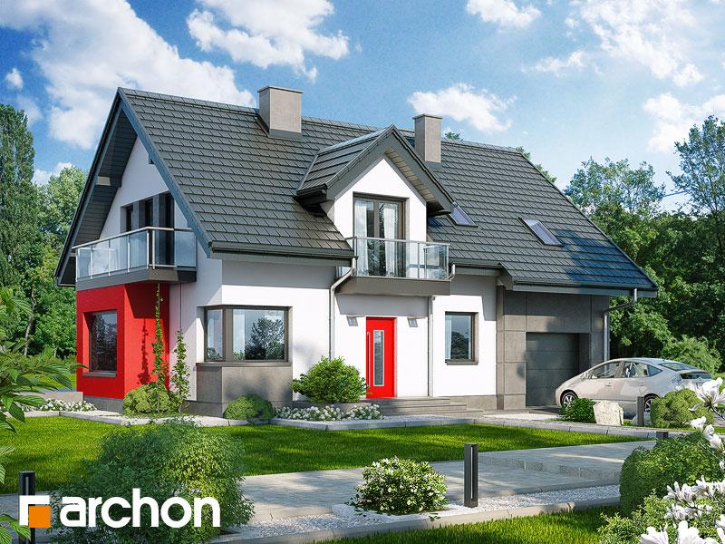 Проект будинку ARCHON+ Будинок в рододендронах 8 (H) Вид 1