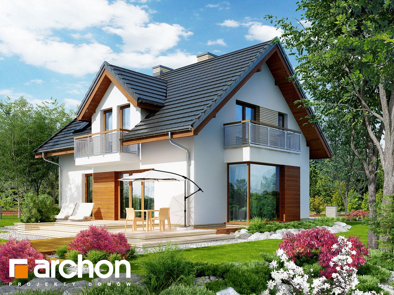 Проект будинку ARCHON+ Будинок в рододендронах 6 (ВH) Вид 2