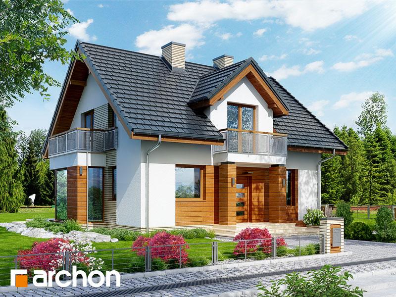 Проект будинку ARCHON+ Будинок в рододендронах 6 (ВH) Вид 1