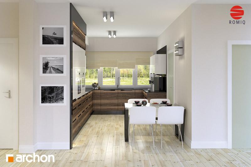 Проект будинку ARCHON+ Будинок в акебіях 4 візуалізація кухні 1 від 1