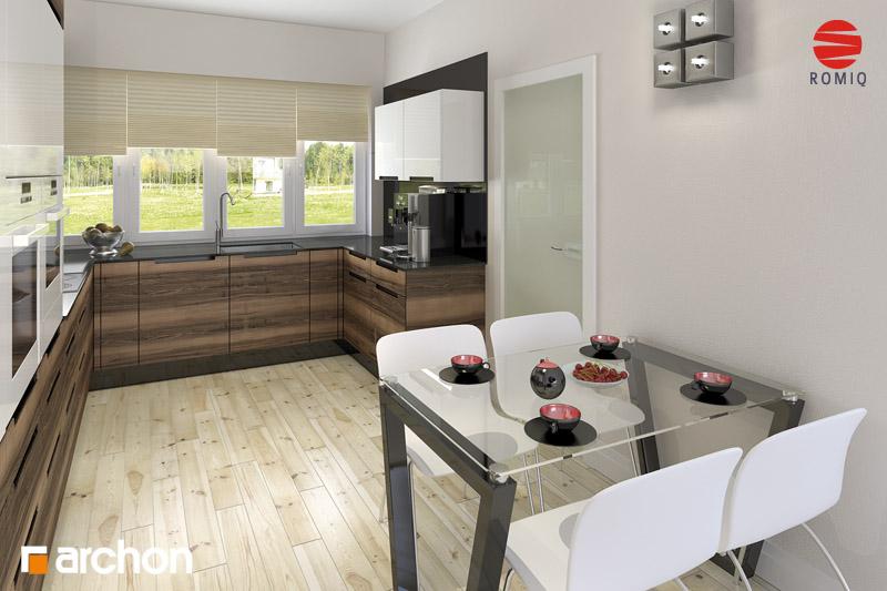 Проект будинку ARCHON+ Будинок в акебіях 4 візуалізація кухні 1 від 2