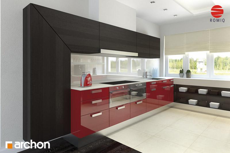 Проект будинку ARCHON+ Будинок в акебіях 4 візуалізація кухні 2 від 1