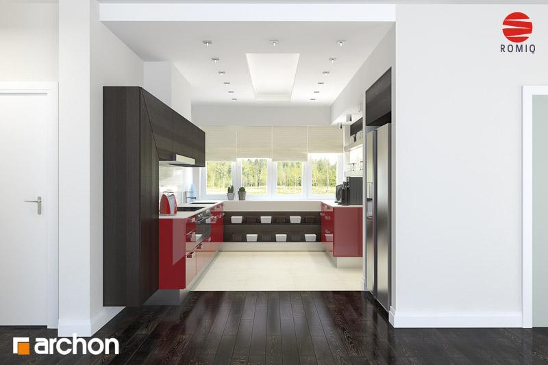 Проект будинку ARCHON+ Будинок в акебіях 4 візуалізація кухні 2 від 2