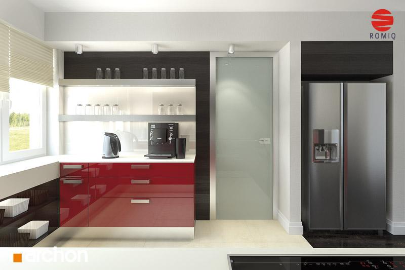 Проект будинку ARCHON+ Будинок в акебіях 4 візуалізація кухні 2 від 3