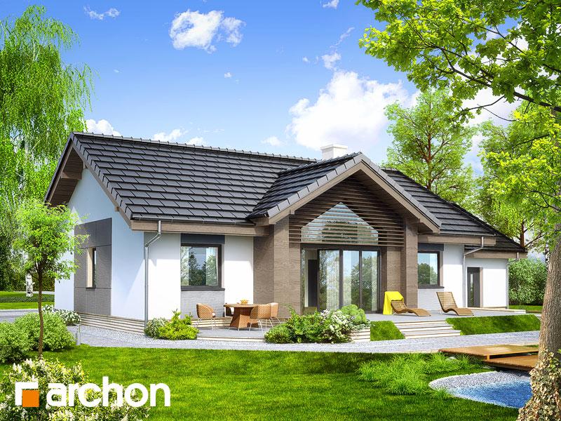 Проект будинку ARCHON+ Будинок в акебіях 4 стилізація 4