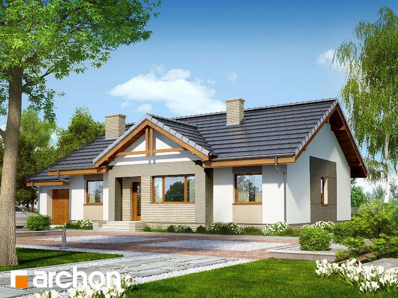 Проект будинку ARCHON+ Будинок в акебіях 4 стилізація 5