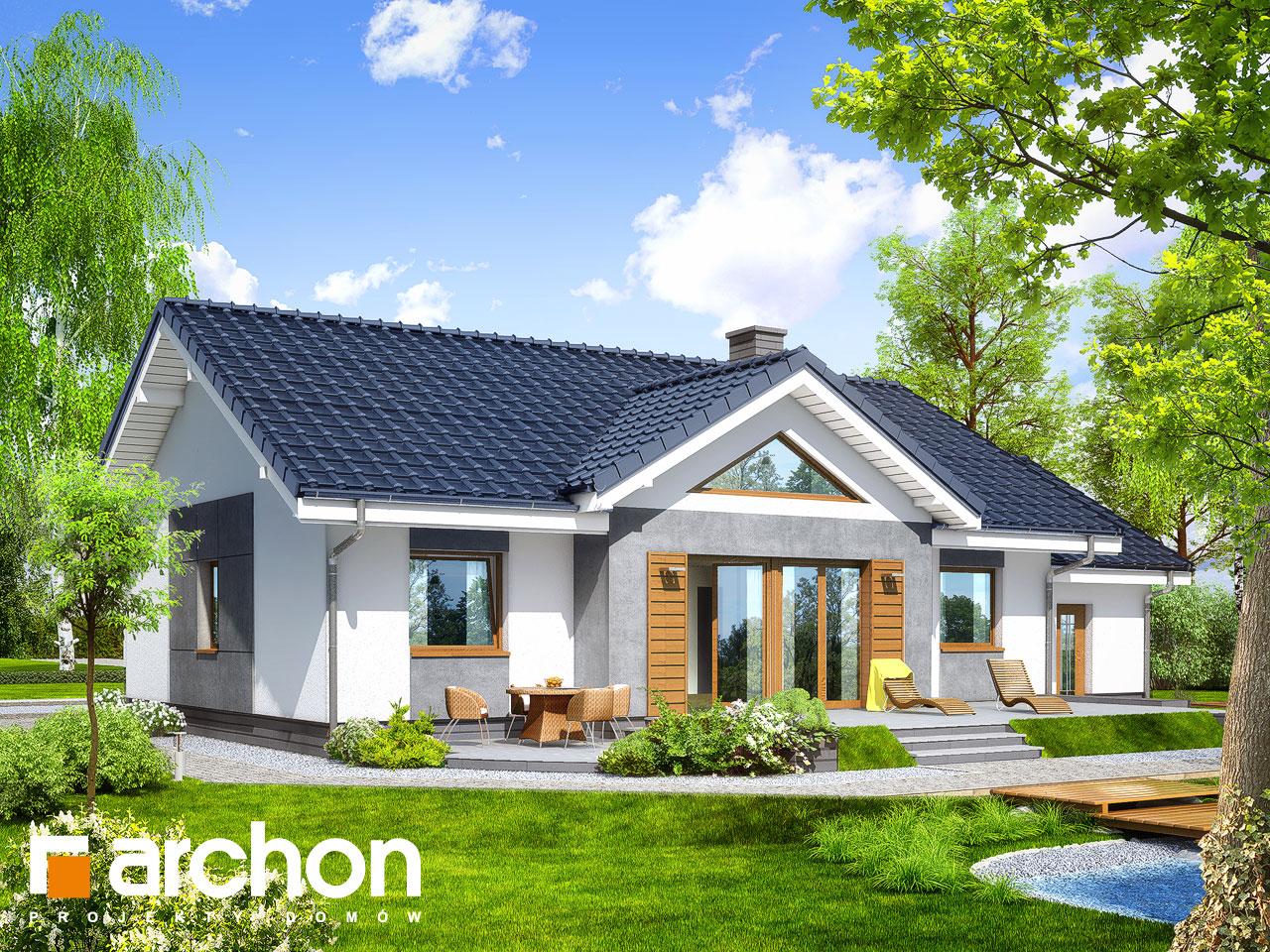 Проект будинку ARCHON+ Будинок в акебіях 4 Вид 2
