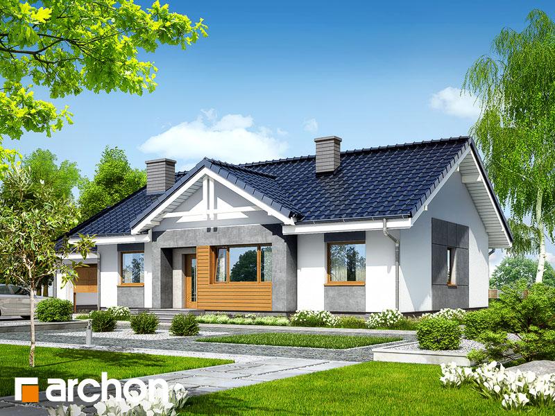 Проект будинку ARCHON+ Будинок в акебіях 4 Вид 1