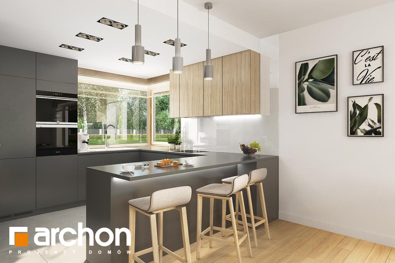 Проект будинку ARCHON+ Будинок в смарагдах 4 (Г) візуалізація кухні 1 від 1