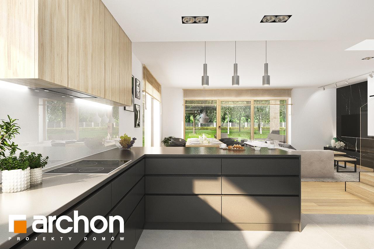Проект будинку ARCHON+ Будинок в смарагдах 4 (Г) візуалізація кухні 1 від 2