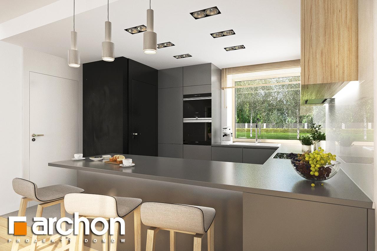 Проект будинку ARCHON+ Будинок в смарагдах 4 (Г) візуалізація кухні 1 від 3